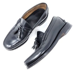 J&M Aristocraft Black Tassel Loafers Moc Toe USA